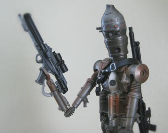 """Vintage Star Wars Doll, Star Wars Christmas Gift for Kids, 12"""" Action Figure, IG-88 the Bounty Hunter, Star Wars Toy with Original Box"""