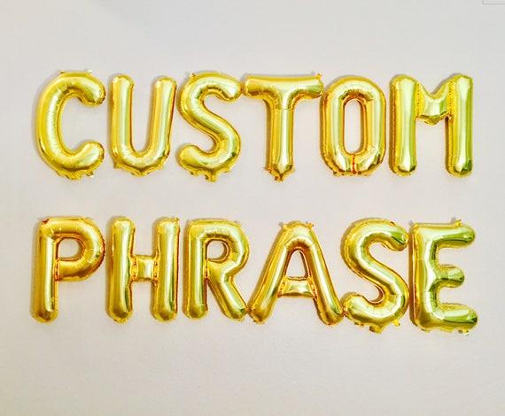Custom letter balloons custom balloon letters letter for Letter balloons denver