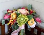 Custom Listing for Cheryl -- Tropical Beach Bouquet | Silk Flower Vow Renewal Bouquet