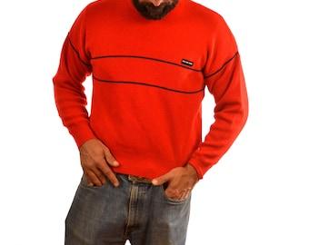 Vintage 80s Demetre Red Wool Ski Sweater