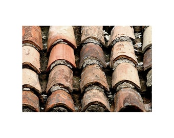 Old Roofs tiles print. roof Photography. Rustic roof Print. Small Wall Art. Wall Decor. Vintage Door Decor, Fine Art Photography.