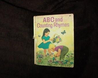 vintage 1963 ABC and Counting Rhymes vintage childrens Wonder book