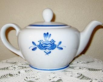 ARABIA Of FINLAND Blue Rose Teapot