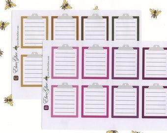 CLIPBOARD Planner Stickers | BeeMore