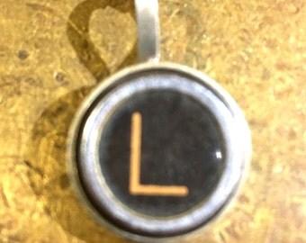 L Typewriter Key Pendant