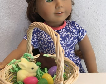 Basic Easter Basket, 18 in doll scale