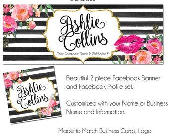 LipGloss Facebook Timeline Cover Set - LipGloss Makeup - Makeup Artist, Facebook Banner