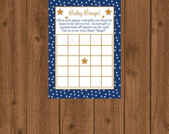 Star Baby Bingo, Twinkle Twinkle Baby Shower Bingo, Gold Baby Shower, Baby Shower Bingo, Boy Baby Shower, Instant Download