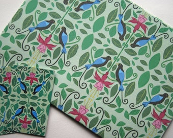 Birds of Paradise Wrapping Paper - Recycled Wrapping Paper - Bird Wrapping Paper - Flower Wrapping Paper - Floral Wrapping Paper