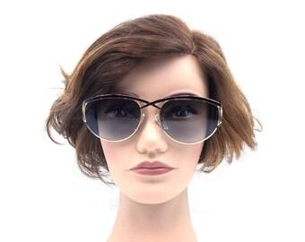 cat eye sunglasses. deadstock vintage. retro sunglasses. tortoise shell glasses. gold metal. sunglasses women. 90s eyewear. 1990s women. 211