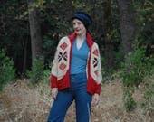Sweater Jacket / Wool Sweater Jacket/ Boho Sweater Jacket / 70s Sweater Coat / Nordic / Wool / Sweater / Boho Sweater / Knitwear