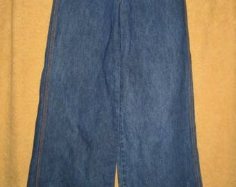 """70s Brittania Bell Bottom High Rise Jeans 29"""" Vintage"""