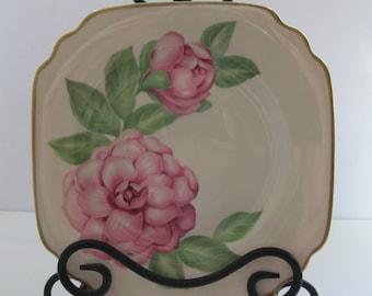 VTG Syracuse China Onondaga Pottery Company Dessert Salad Floral Plates Set of 4