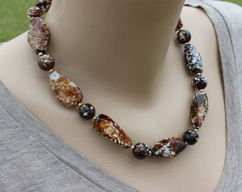 Womens Brown Necklace