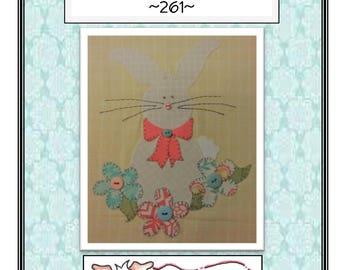 Garden Bunny Applique packaged pattern QD-261