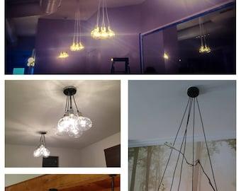 Pendant Light Chandelier with 5 Clustered Lights- Modern Pendant Lighting Elegant Dining Light Fixture Antique Edison Bulbs Modern Lighting