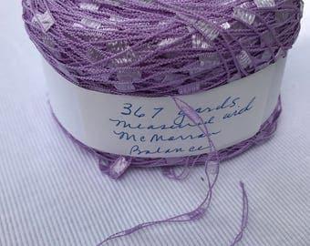Trellis or Railroad Track Lilac Yarn