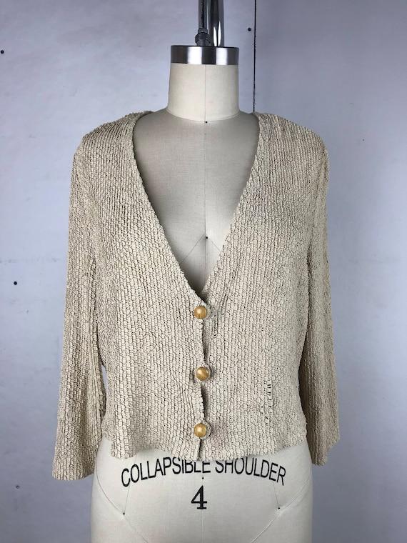 90s Ribbon Knit Style Cardigan