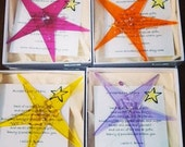Acceptance Star, Fused Glass, window charm, ornament