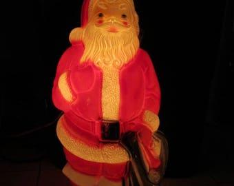 Vintage Blow Mold Lit Santa Claus