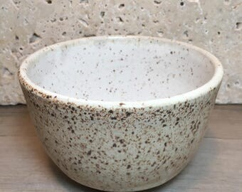 Rustic Bowl - Handmade Stoneware Bowl - Ceramic Bowl - Cereal Bowl - Salad Bowl - Ice Cream Bowl - Speckled Stoneware Bowl