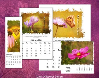 2018 Printable PhotoArt Calendar in 4 sizes - Instant Download