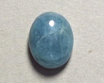 blue AQUAMARINE cabochon oval 13X17mm designer cabochon