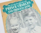 First Golden Gift Book of Prince Charles and Princess Anne Royal Pictorial Souvenir Book