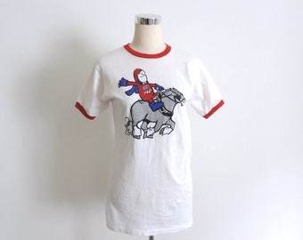 Bud Man Budweiser T Shirt Ringer Tee Vintage Small