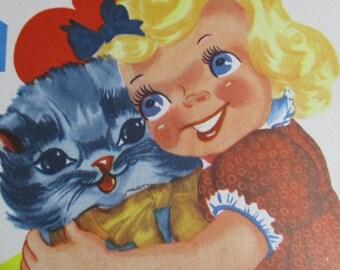 Vintage Valentine Cards Book-Make Your Own-Complete-1930's