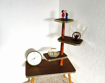 Display Table Mid Century Plant Table Formica Vintage German Flower Bench Side Table End Table Retro