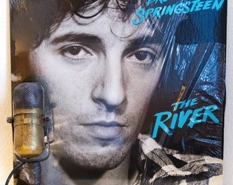 "ON SALE Bruce Springsteen Record LP ""The River"" (Loaded Original 1980 Cbs Records with photo inner sleeves and lyric insert, ""Hungry Heart"")"