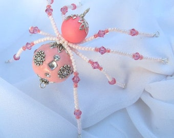 Christmas Spider Ornament Folk Art Tales of Tinsel and Garland