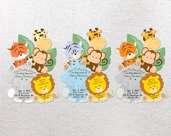 Jungle Baby Shower Invitation, Jungle Invitation, Safari Invitation Giraffe  Safari Baby Invitations Unique Baby