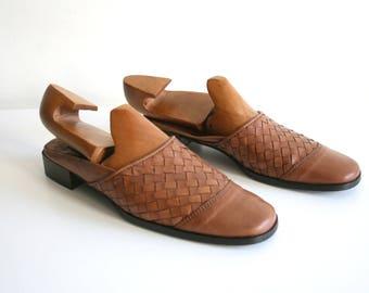 Sesto Meucci Leather Slide Mules 9.5 N