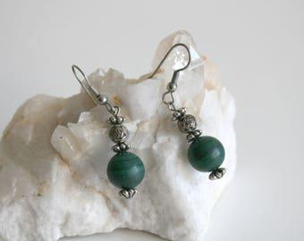 Malachite Stone Earrings