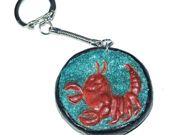 Jewels of bag or key holder: Astrological signs nice! Scorpio