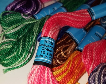 Prism variegated embroidery floss, various colors, craft thread,
