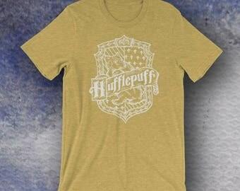 Harry Potter Inspired Hufflepuff Screen Printed T-Shirt