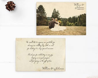 "Vintage Wedding Thank You Cards / Wedding thank yous / Wedding Thank You Cards / Thank you Cards / Thank you - the ""Julianna"""