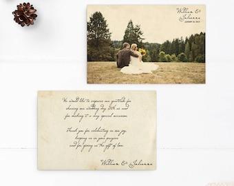 "Vintage Wedding Thank You Cards / Wedding thank yous / Wedding Thank You Cards / Thank you Cards / Thank you - the ""Julianna"""