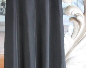 Vintage 1940s Black Rayon Peplum Skirt 24 Waist
