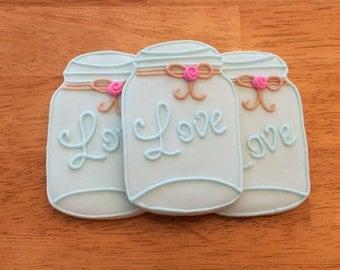 One Dozen Mason Jar Sugar Cookies