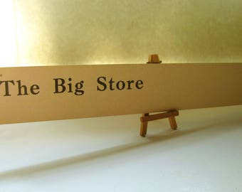 Vintage Business Sign The Big Store Shop Sign Flash Card LONG Flashcard Display General Store Bakery Grocery Antique Shop Wall Office Decor