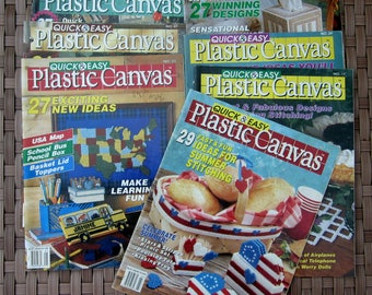 7 PLASTIC CANVAS Quick & Easy Magazine LOT 1991 - 1994 Back Issues The Needlecraft Shop