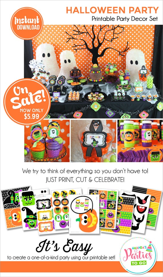 Halloween party printable halloween decorations halloween for How to have a great halloween party