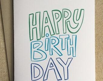 Simple Birthday Card - Blank Card
