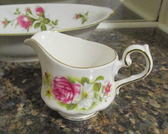 Queen Anne Bone China Cream Pitcher Made in England  - China Replacements