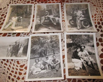 Vintage Black and White Photographs Vintage Car Oklahoma Plates Family pictures
