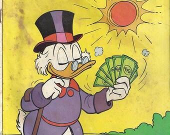 Vintage Whitman Walt Disney Uncle Scrooge #189 Comic Book, 1981